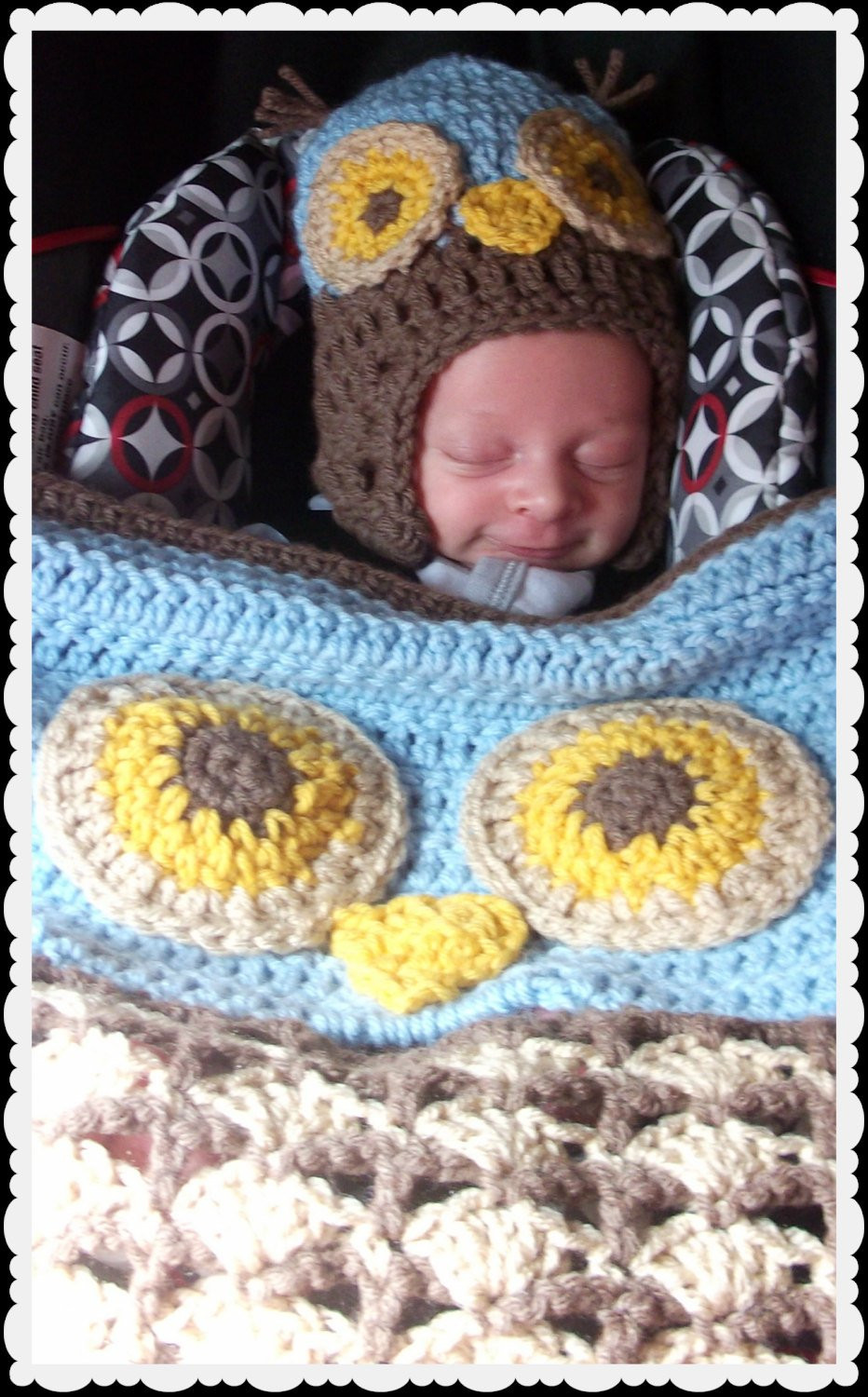 Crochet Owl Blanket New Crochet Woodland Owl Stroller Carseat Blanket and Matching Of Contemporary 43 Images Crochet Owl Blanket