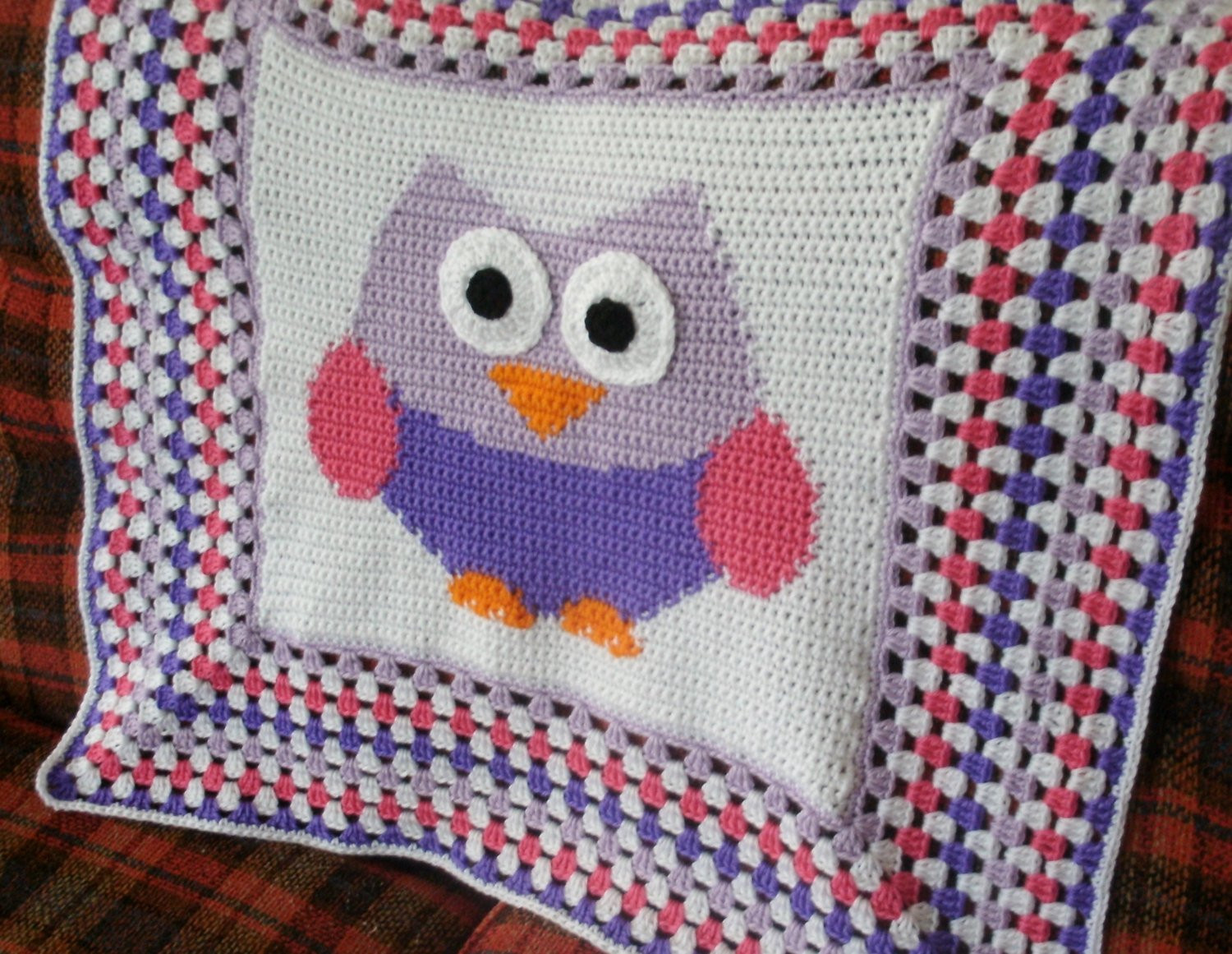 Crochet Owl Blanket Pattern Awesome Crochet Owl Baby Afghan Granny Square by Prettyponchosandmore Of Luxury 42 Models Crochet Owl Blanket Pattern