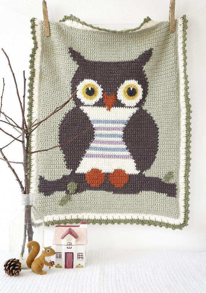 Crochet Owl Blanket Pattern Beautiful Ollie Owl Baby Blanket Crochet Pattern by Little Doolally Of Luxury 42 Models Crochet Owl Blanket Pattern