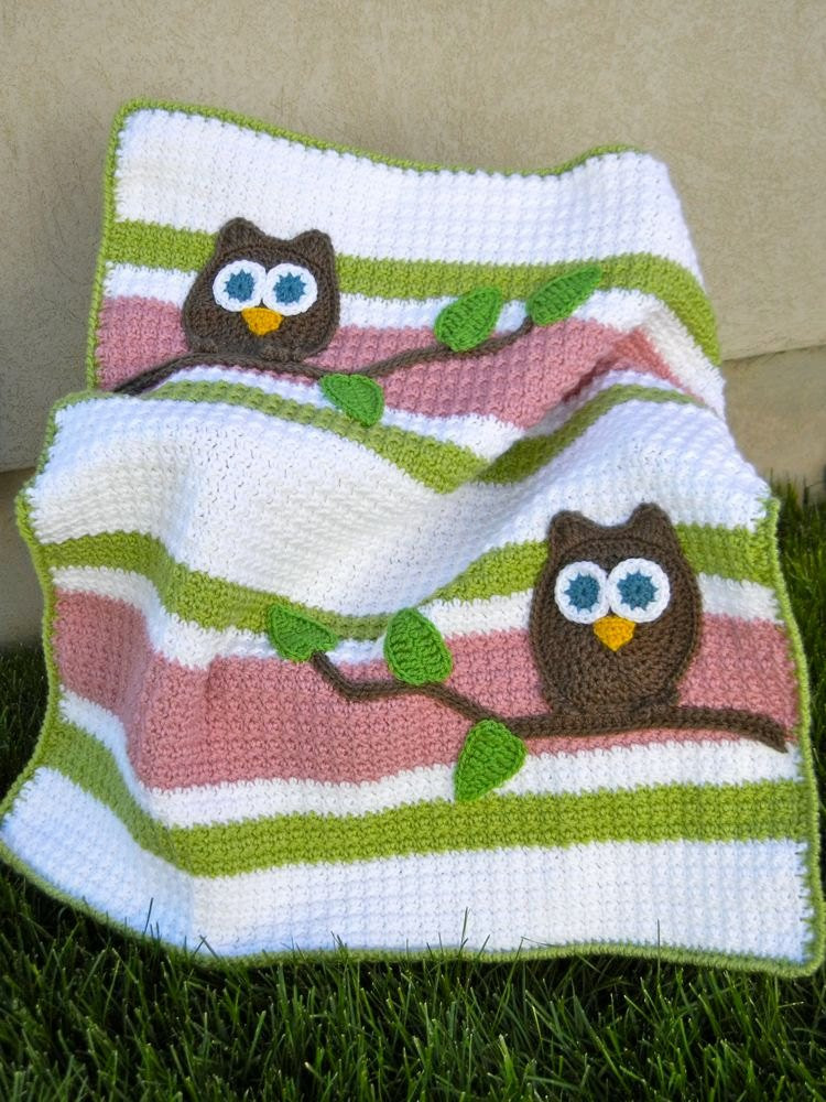 Crochet Owl Blanket Pattern Luxury Owl Baby Blanket Pink and Green Girl Baby Shower Gift Of Luxury 42 Models Crochet Owl Blanket Pattern