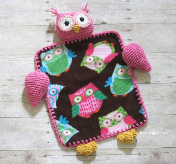 Crochet Owl Blanket Pattern Unique Repeat Crafter Me Crochet Owl Lovey Blanket Free Pattern Crochet Pinterest Of Luxury 42 Models Crochet Owl Blanket Pattern