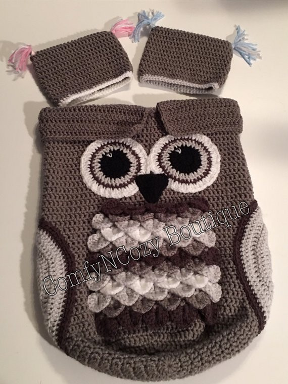 Crochet Owl Cocoon Awesome Colorful Crochet Baby Owl Cocoon Sack Of Amazing 44 Models Crochet Owl Cocoon