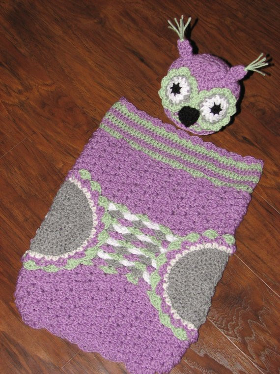 Crochet Owl Cocoon Inspirational Crochet Owl Baby Cocoon with Matching Hat by Of Amazing 44 Models Crochet Owl Cocoon