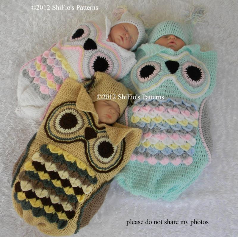Crochet Owl Cocoon Inspirational Owl Cocoon Papaoose New Pattern & Sale Shifio Patterns Of Amazing 44 Models Crochet Owl Cocoon