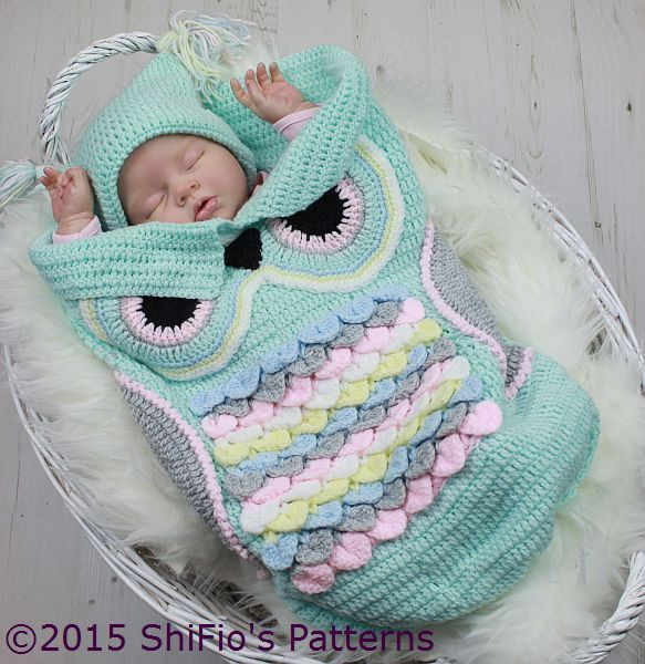 Crochet Owl Cocoon Unique Crochet Pattern for Owl Cocoon Papoose & Hat 3 Sizes 245 Of Amazing 44 Models Crochet Owl Cocoon