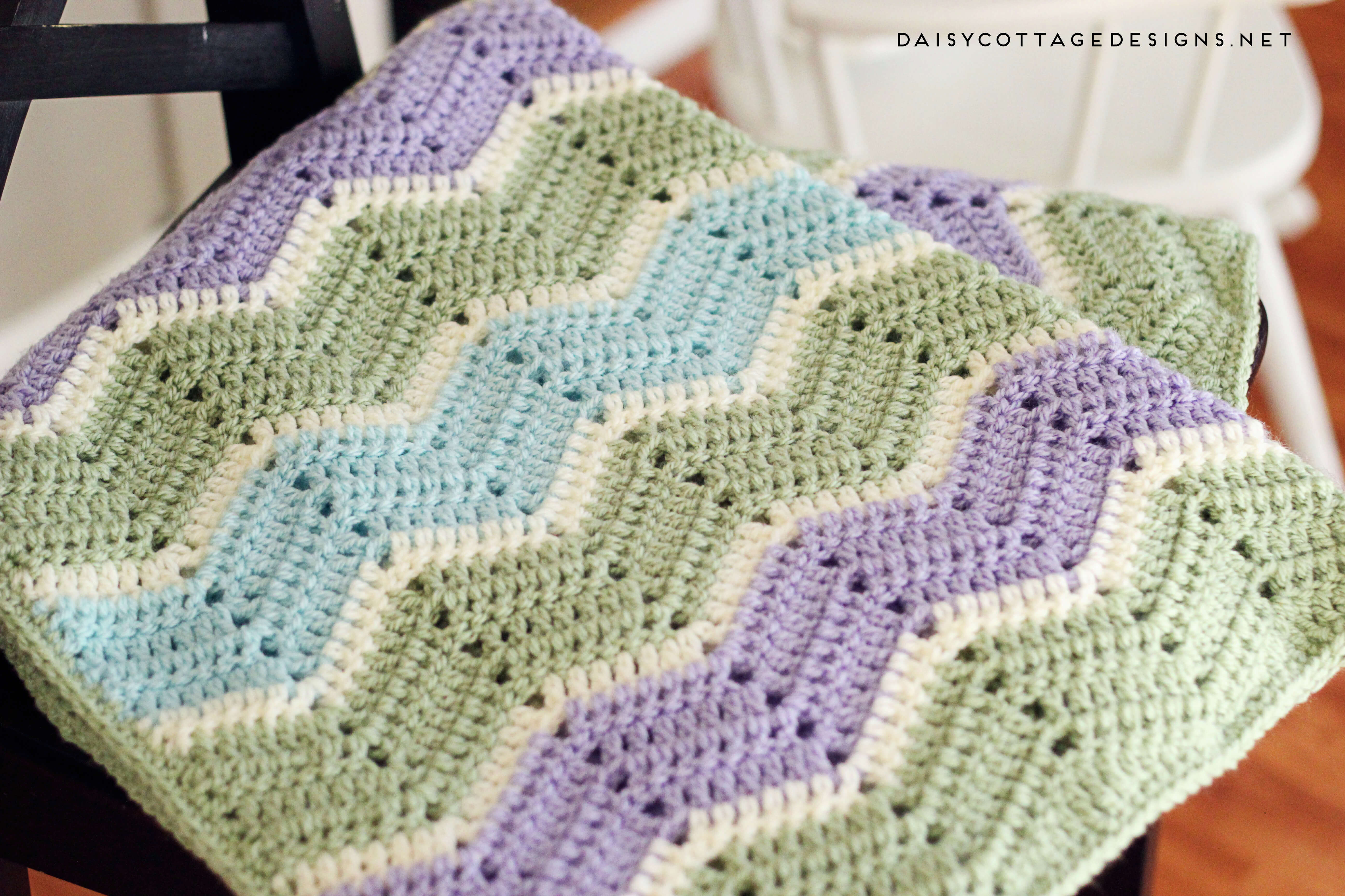Crochet Patterns Awesome Ripple Blanket Crochet Pattern Daisy Cottage Designs Of Charming 50 Models Crochet Patterns