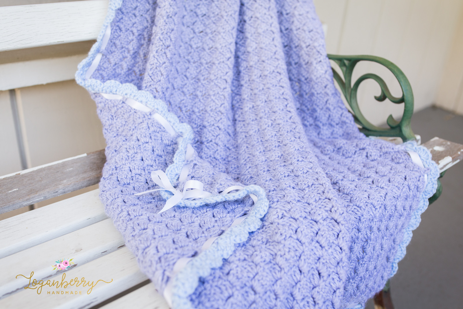 Crochet Patterns for Baby Blankets Awesome Baby Blue Scallops Crochet Blanket – Free Crochet Pattern Of Great 50 Photos Crochet Patterns for Baby Blankets
