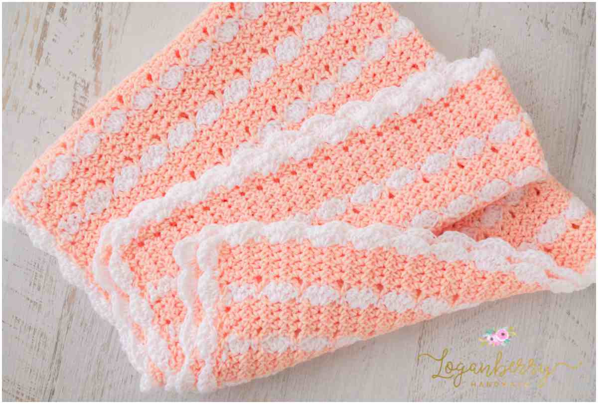 Crochet Patterns for Baby Blankets Inspirational Sweet Peaches and Cream – Free Crochet Pattern Of Baby Of Great 50 Photos Crochet Patterns for Baby Blankets