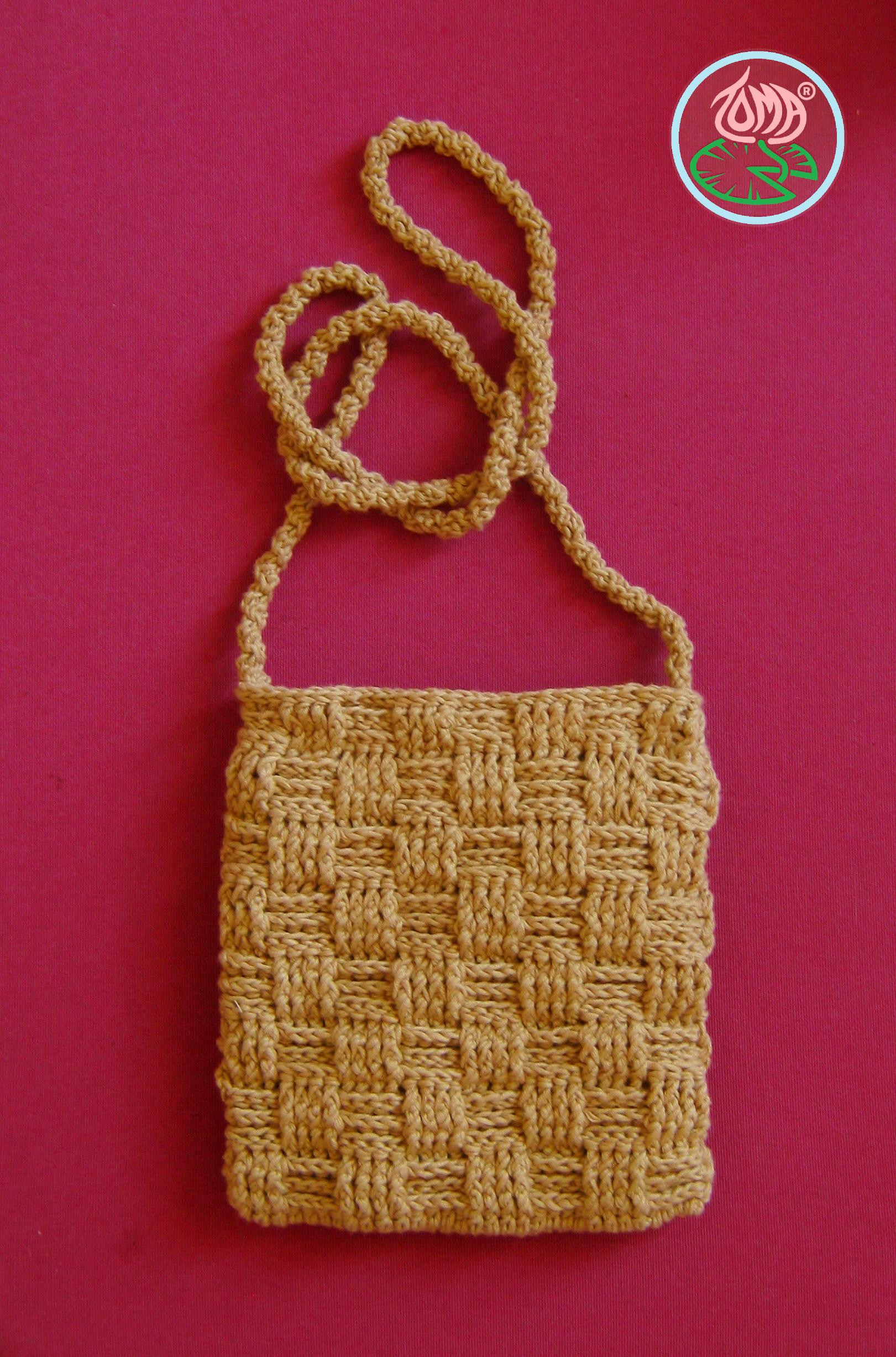 Free Pattern Crocheted Over the Shoulder Mini Purse