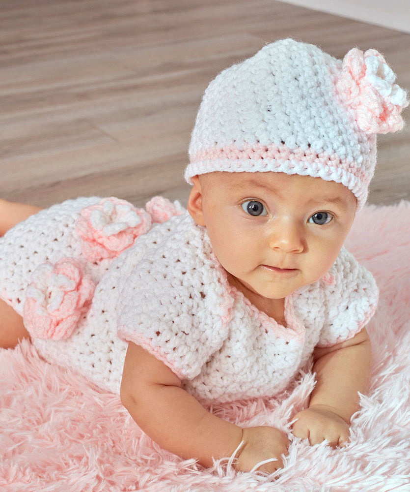 Crochet Patterns Inspirational Floral Esie & Hat Free Baby Crochet Pattern ⋆ Crochet Of Charming 50 Models Crochet Patterns