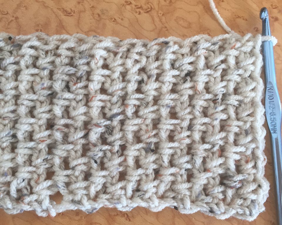 Easy Crochet Scarf Free Pattern Using Moss Stitch