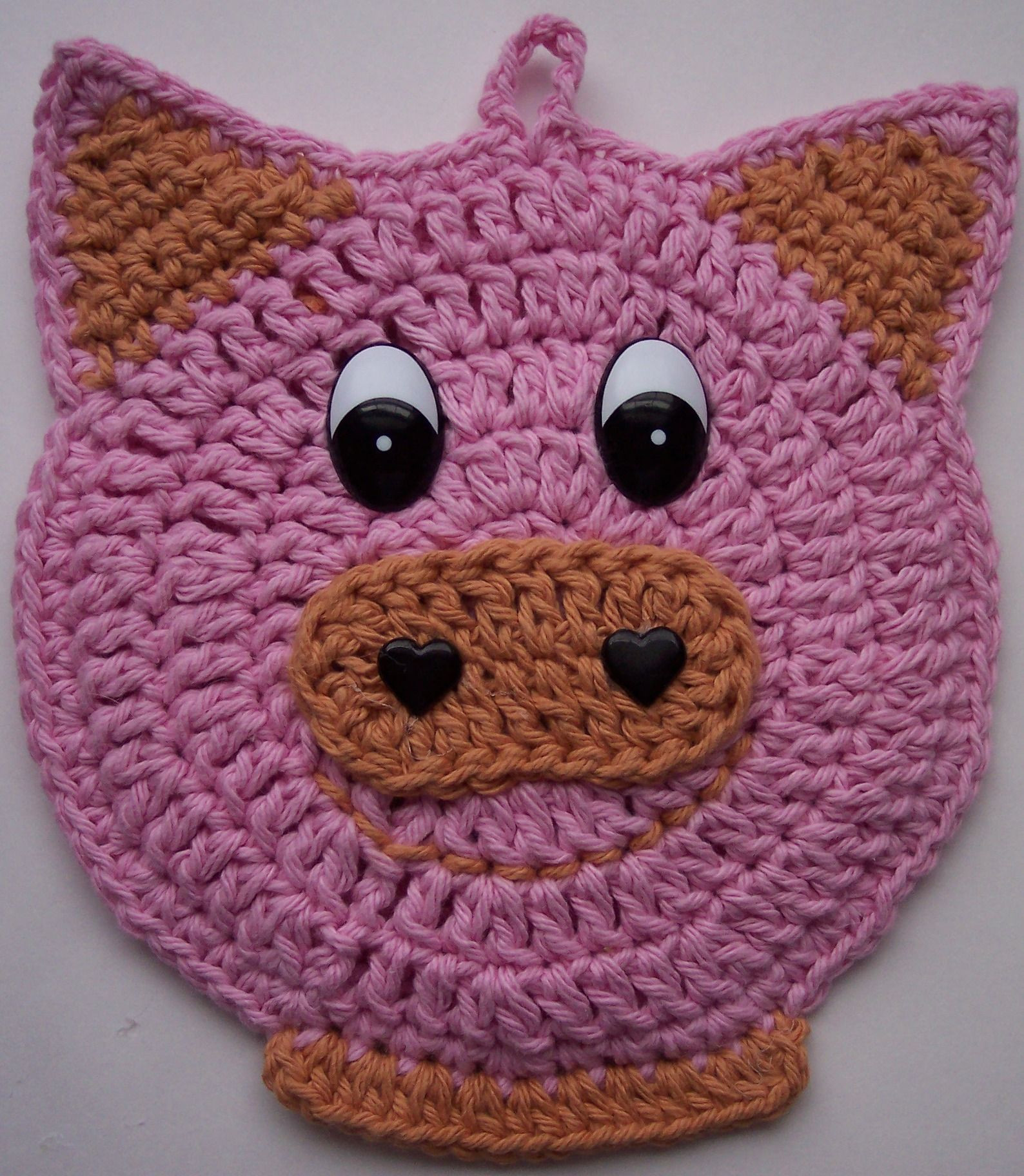 Crochet Pig Pattern Awesome Crochet Pig Potholder Crochet 4 Pinterest Of Adorable 49 Models Crochet Pig Pattern