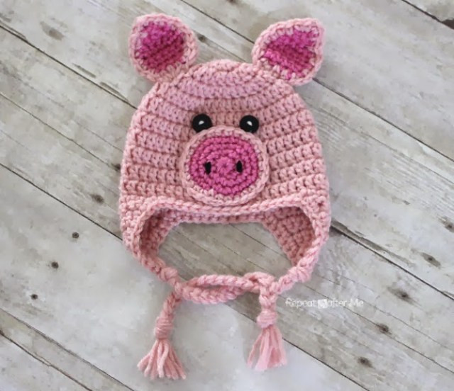 Crochet Pig Pattern Elegant Crochet Pig Hat Pattern Repeat Crafter Me Of Adorable 49 Models Crochet Pig Pattern
