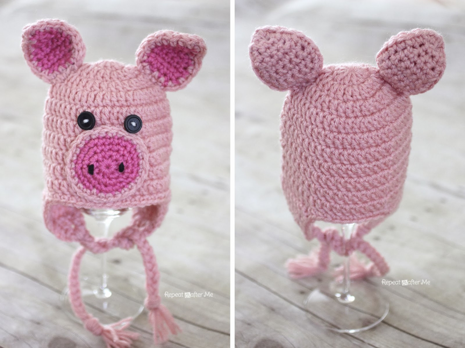 Crochet Pig Pattern Fresh Crochet Pig Hat Pattern Repeat Crafter Me Of Adorable 49 Models Crochet Pig Pattern
