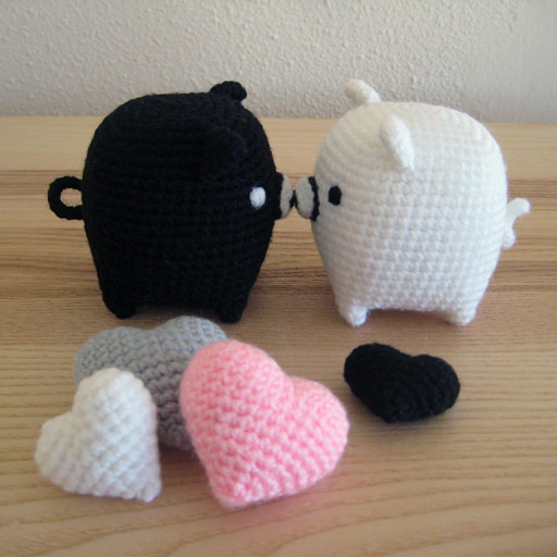 Crochet Pig Pattern Inspirational Monokuro Boo Black and White Piggies with Patterns Of Adorable 49 Models Crochet Pig Pattern