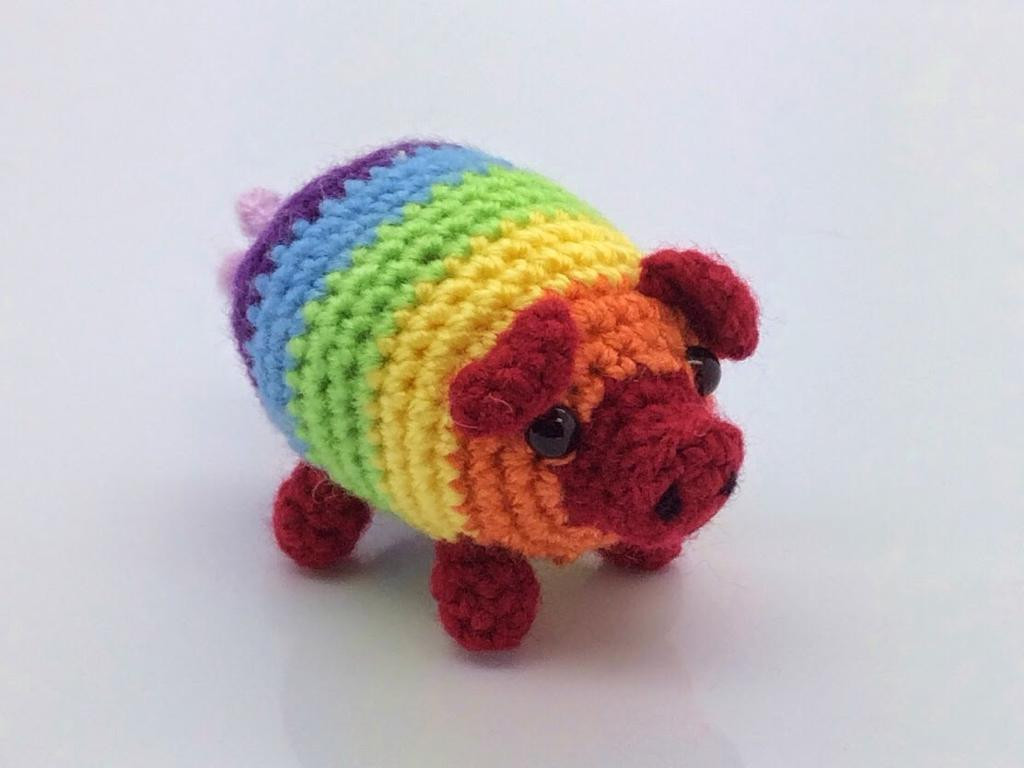 Crochet Pig Pattern Luxury 10 Rainbow Crochet Patterns to Show Your True Colors Of Adorable 49 Models Crochet Pig Pattern