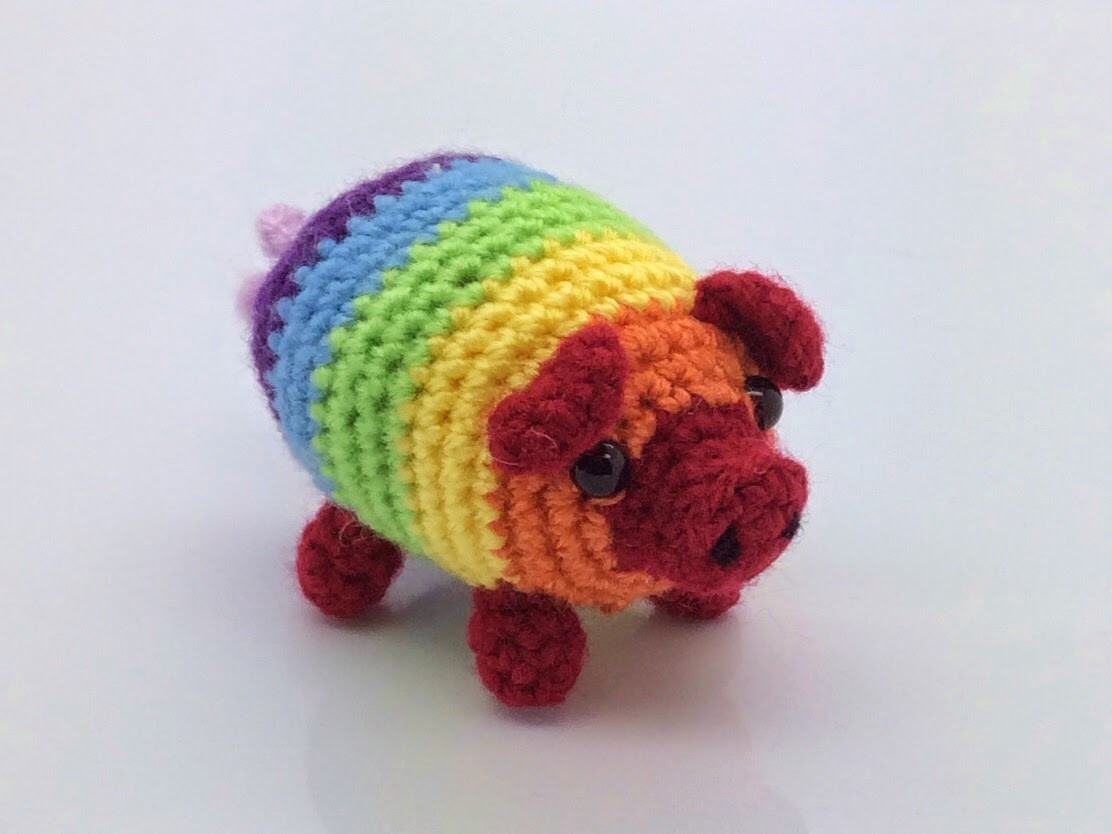 Crochet Pig Pattern New Lonemer Creations Fabrizio the Rainbow Pig Of Adorable 49 Models Crochet Pig Pattern