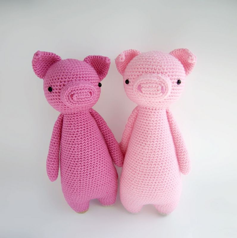 Crochet Pig Pattern Unique Tall Pig with Backpack Amigurumi Pattern by Little Bear Of Adorable 49 Models Crochet Pig Pattern