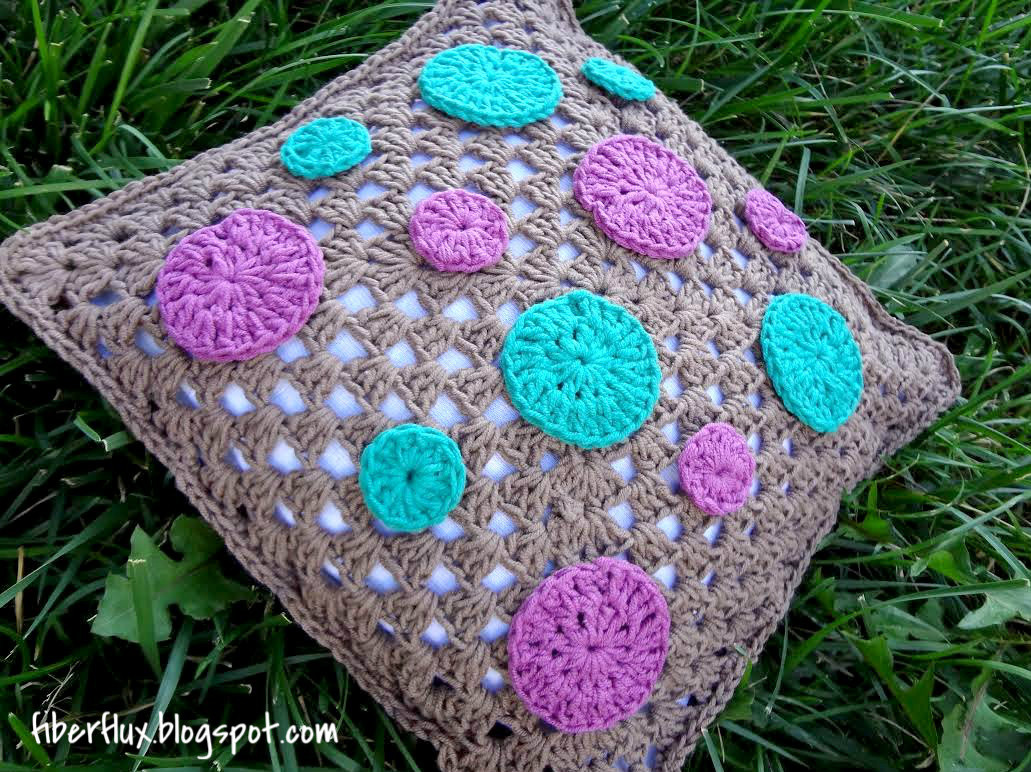 Crochet Pillow Awesome Fiber Flux Free Crochet Pattern Dotty Throw Pillow Of Superb 50 Images Crochet Pillow