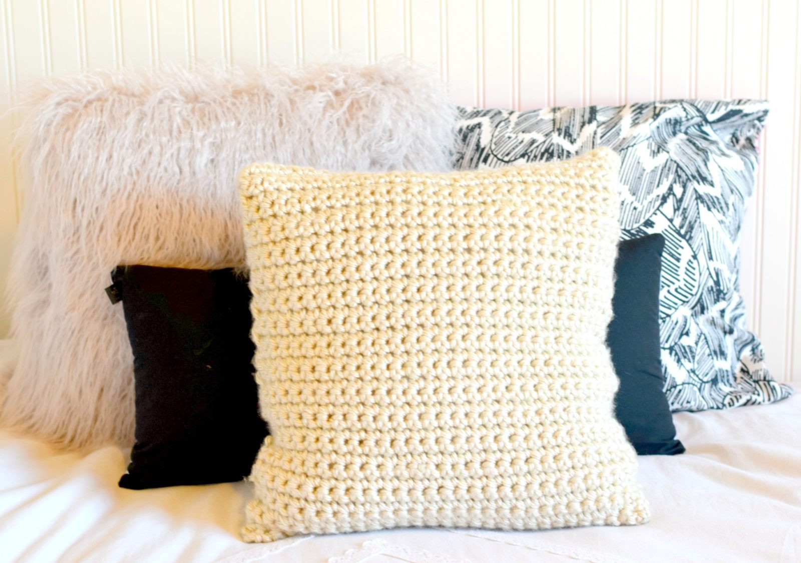 Crochet Pillow Beautiful Super Chunky Crochet Pillow Project – Mama In A Stitch Of Superb 50 Images Crochet Pillow