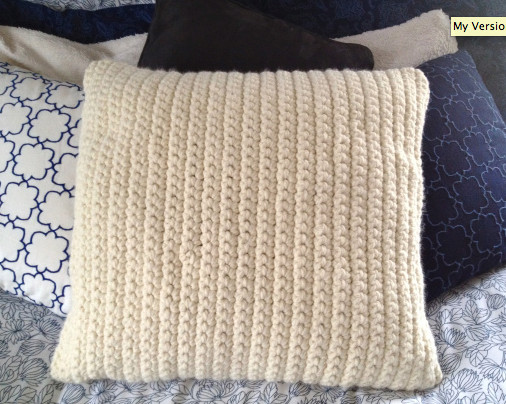 Crafty craftiness Crocheted pillow cover