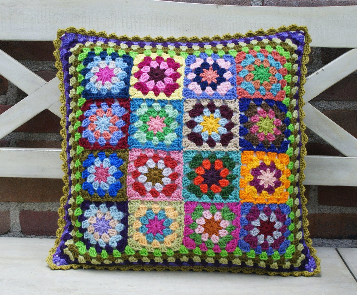 Crochet Pillow Cover Beautiful Crochet Granny Square Cushion Cover Of Amazing 50 Pics Crochet Pillow Cover