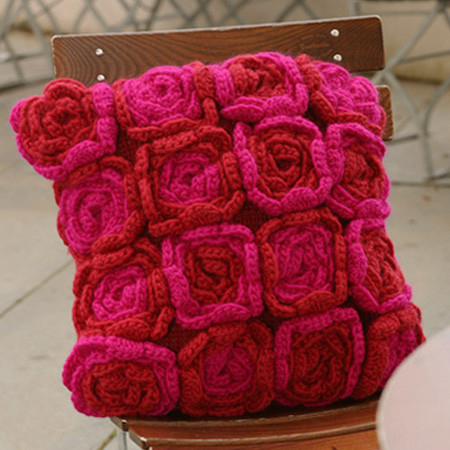 Crochet Pillow Cover Best Of Crochet Rose Cushion Pattern Of Amazing 50 Pics Crochet Pillow Cover