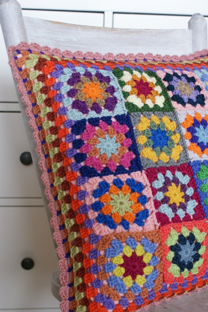 Crochet Pillow Cover Fresh Crochet Granny Square Cushion Cover Of Amazing 50 Pics Crochet Pillow Cover