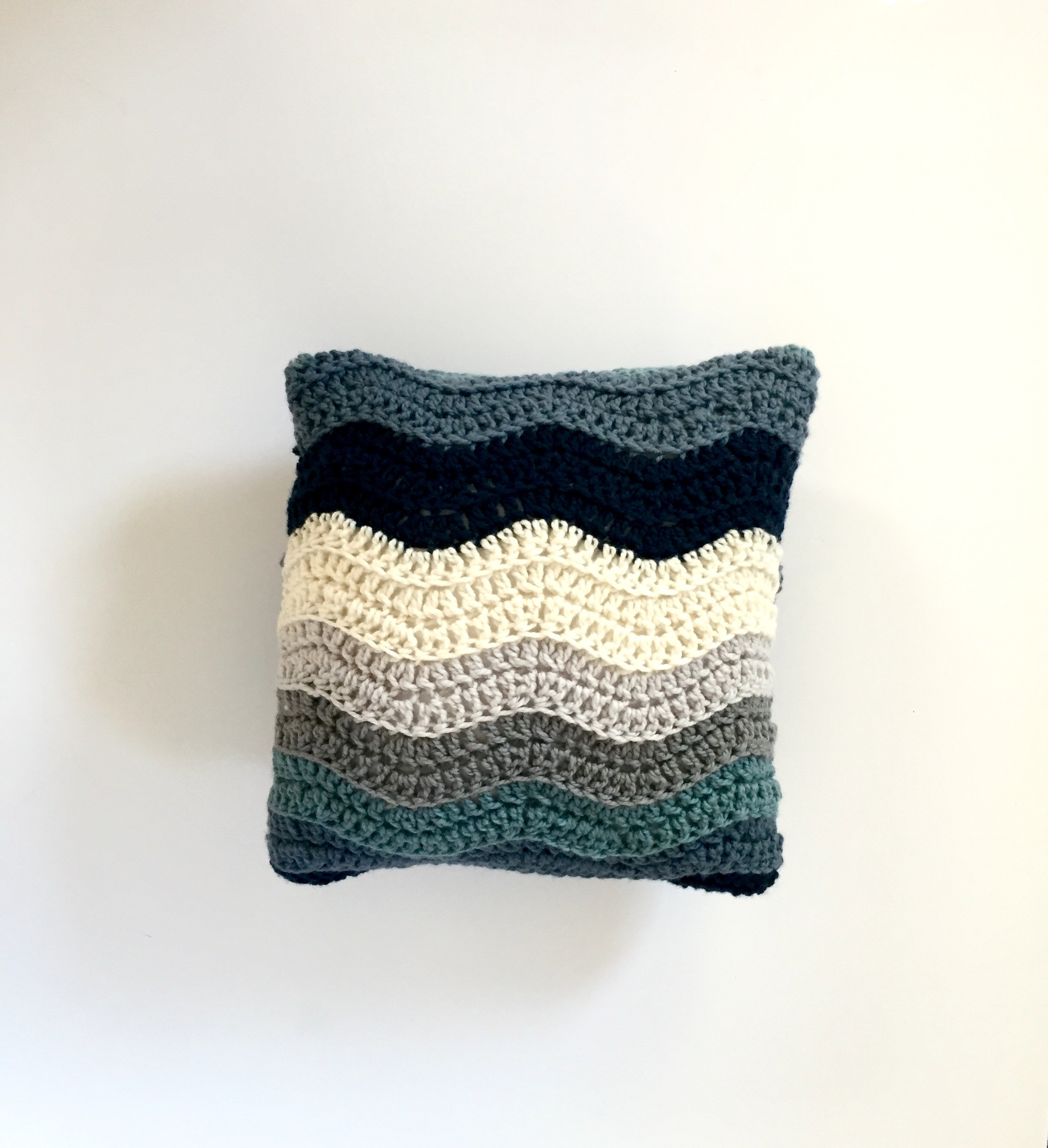 Wedding Ripple Pillow Cover Crochet Pattern by Little