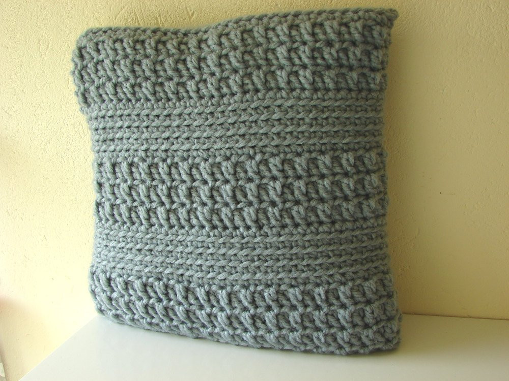 Crochet Pillow Cover Unique Crochet Pattern Chunky Cushion Cover Pattern Bulky Yarn Of Amazing 50 Pics Crochet Pillow Cover