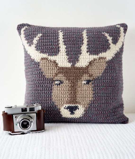 Crochet Pillow Cover Unique Crochet Pillow Cover Pattern Cushion Pdf Stag by Of Amazing 50 Pics Crochet Pillow Cover