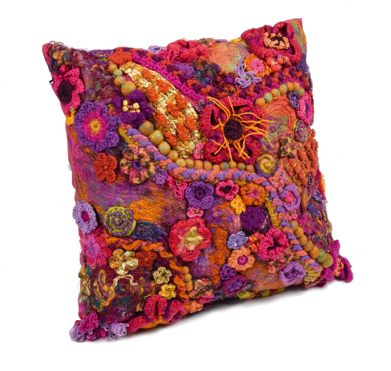 Crochet Pillow Cover Unique Cushion Cover Ooak Freeform Crochet Full Bloom Of Amazing 50 Pics Crochet Pillow Cover