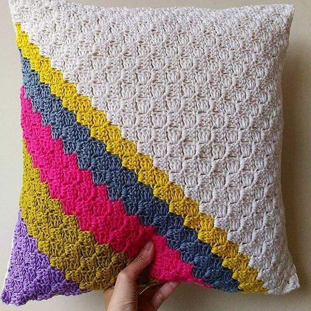Repost Loving this crochet cushion cover by