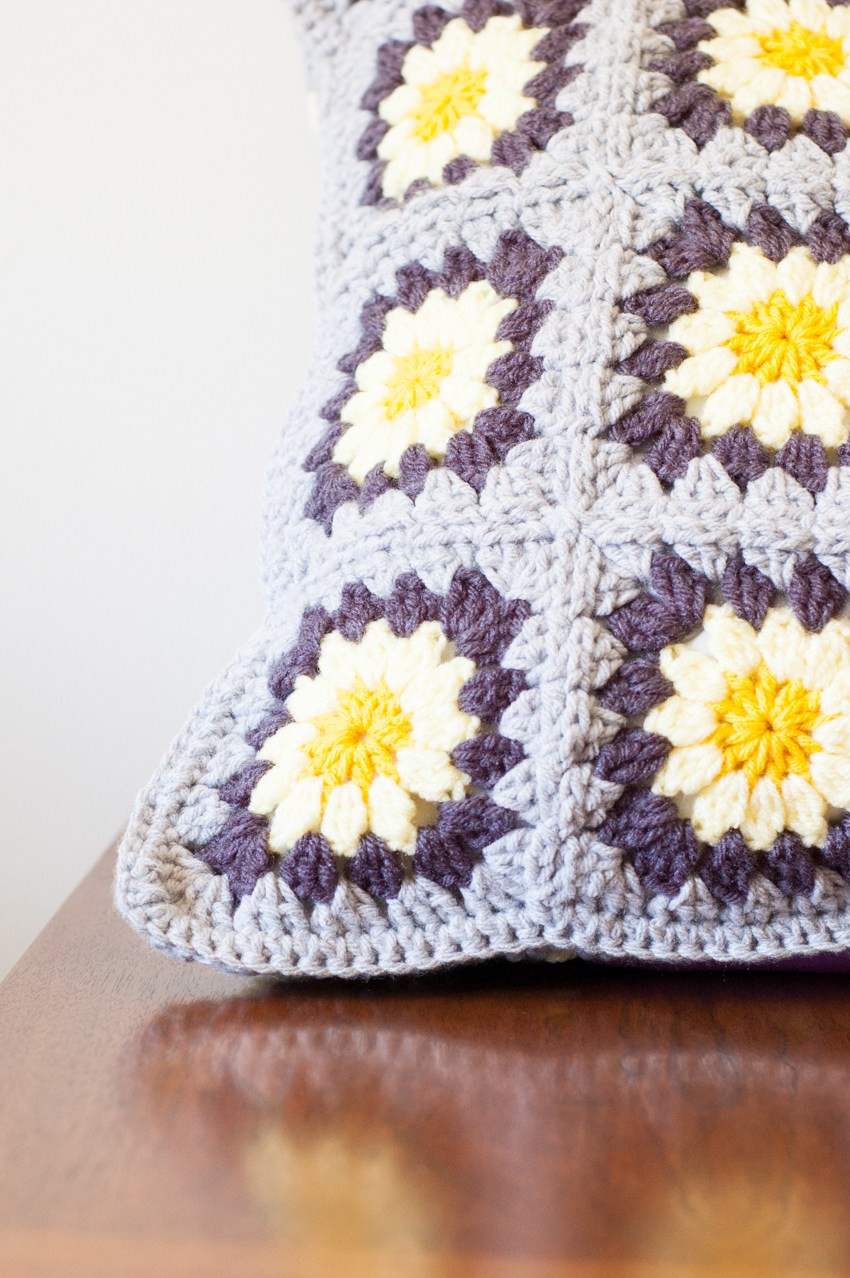 Crochet Pillow Lovely Daisy Granny Square Pillow Free Crochet Pattern Of Superb 50 Images Crochet Pillow