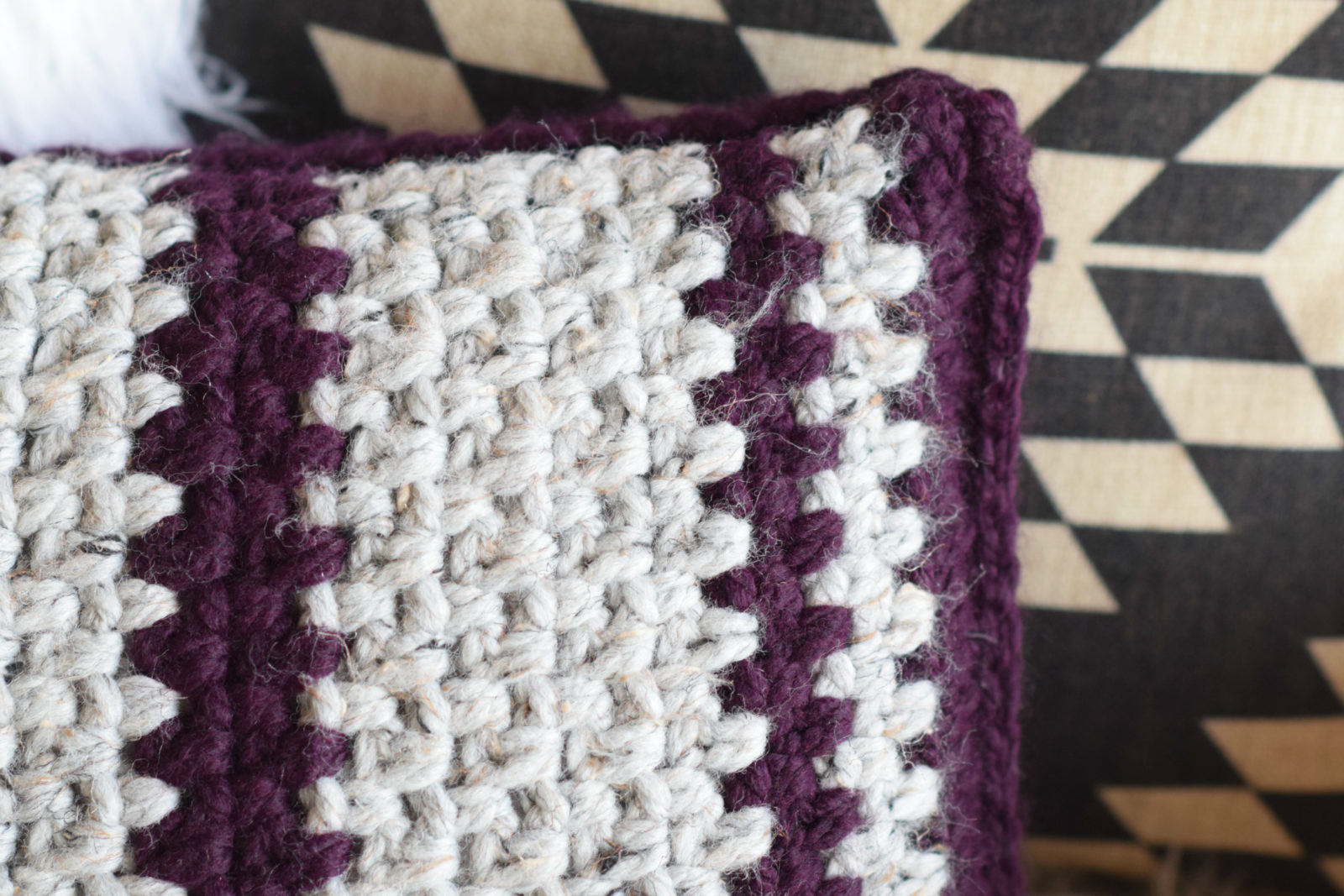 Crochet Pillow Lovely Taos Crochet Throw Pillow & Wool Ease Yarn – Mama In A Stitch Of Superb 50 Images Crochet Pillow