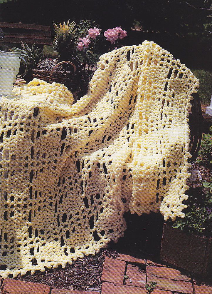 Crochet Pattern PRETTY PINEAPPLE PARFAIT AFGHAN