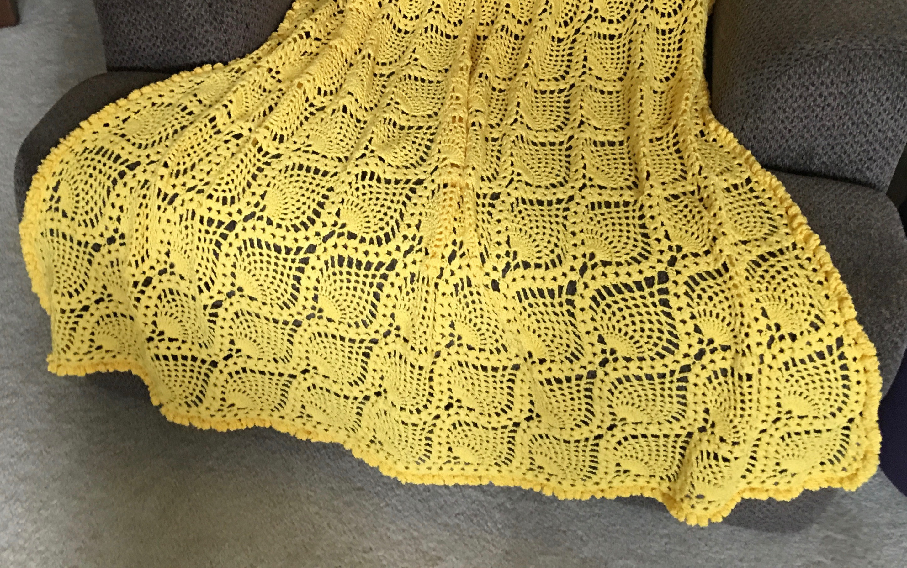 Sunny Pineapple Afghan Pattern Creative Yarn Source