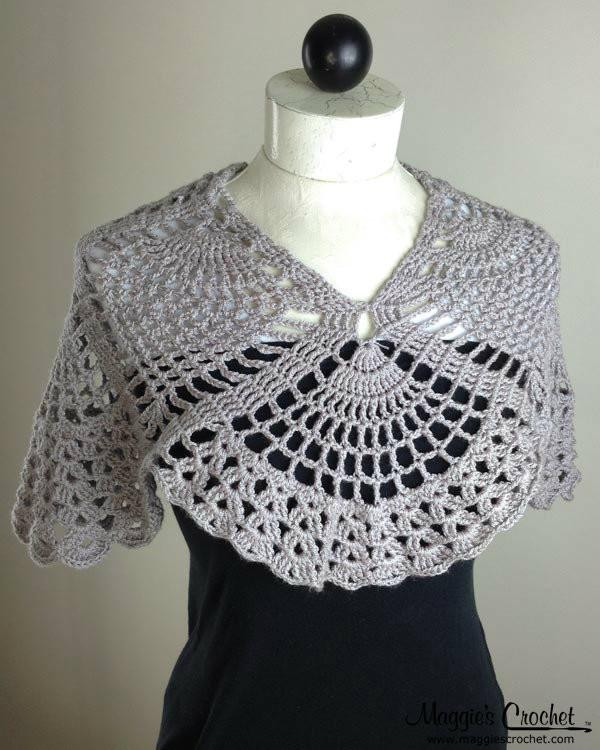 Crochet Pineapple Shawl Awesome Pineapple Cowl Wrap Crochet Pattern Pdf Download – Maggie Of Amazing 47 Photos Crochet Pineapple Shawl