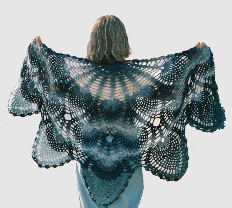 Crochet Pineapple Shawl Beautiful Vintage Inspired Antique Lace Pineapple Shawl Ready by Of Amazing 47 Photos Crochet Pineapple Shawl