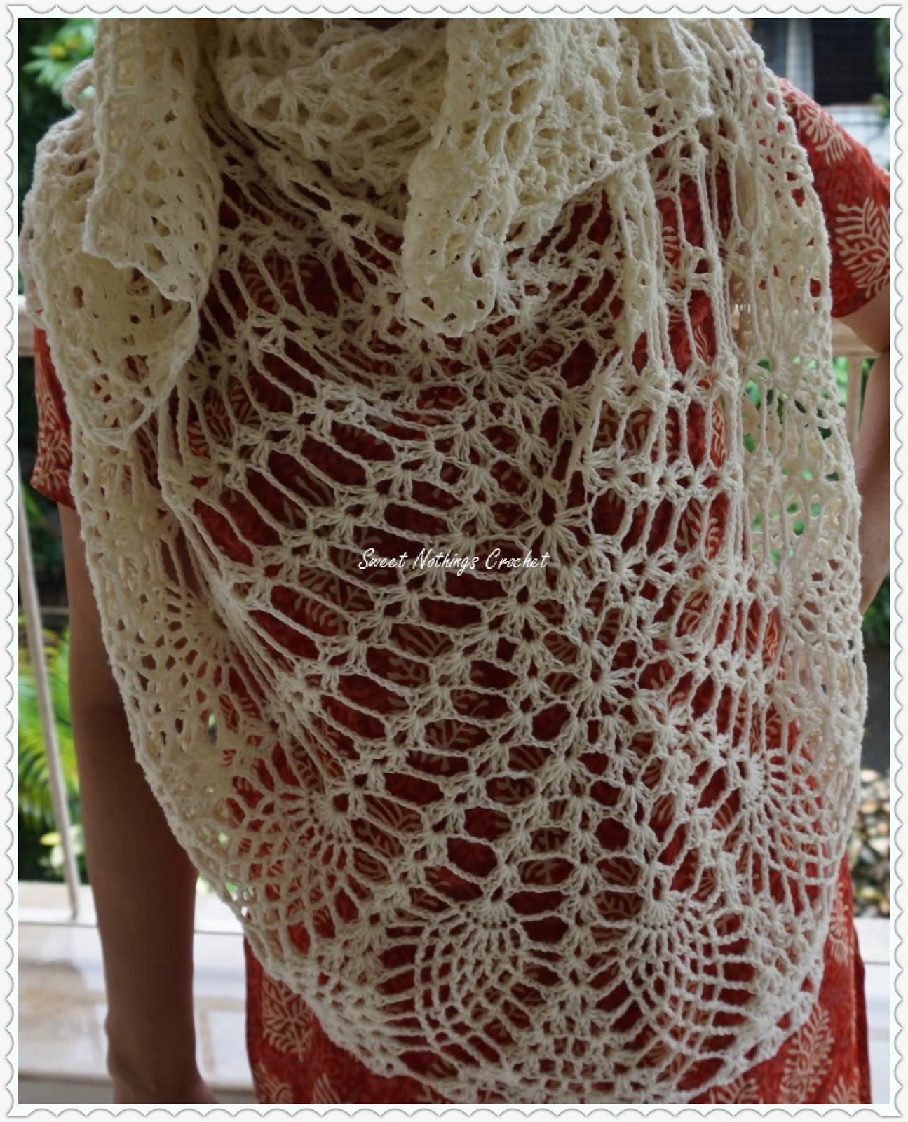 Sweet Nothings Crochet EXQUISITE PINEAPPLE SHAWL