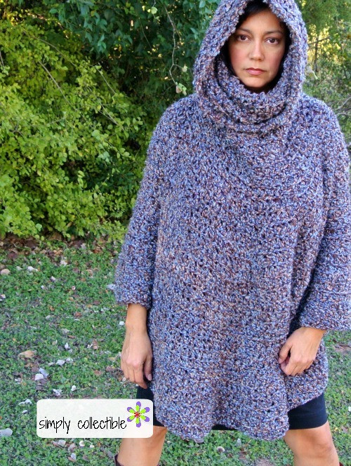 Crochet Poncho Pattern Fresh Hooded Poncho Cowl Crochet Pattern Of Beautiful 41 Ideas Crochet Poncho Pattern