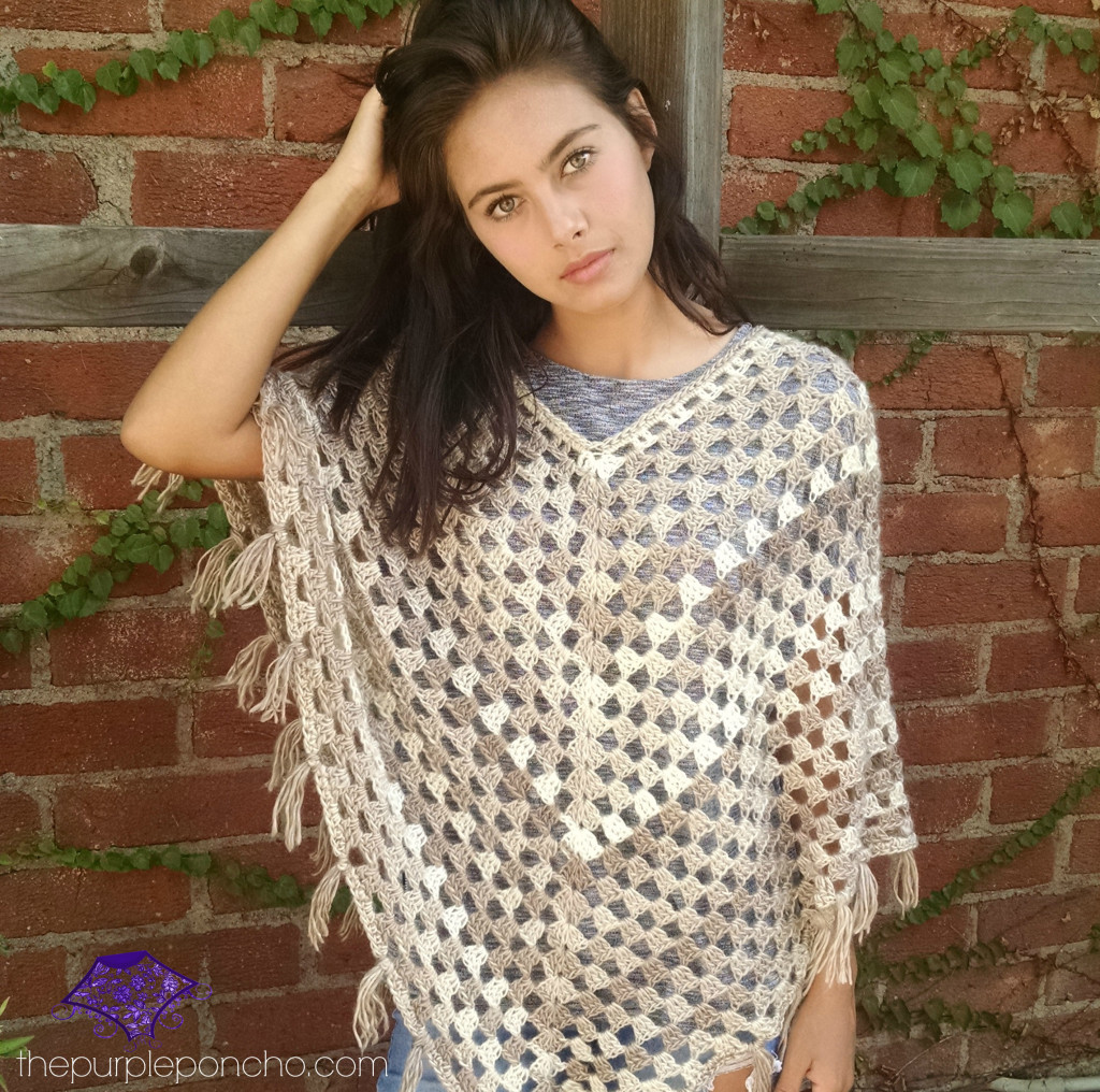 Timeless Boho Poncho – Free Crochet Pattern – The Purple