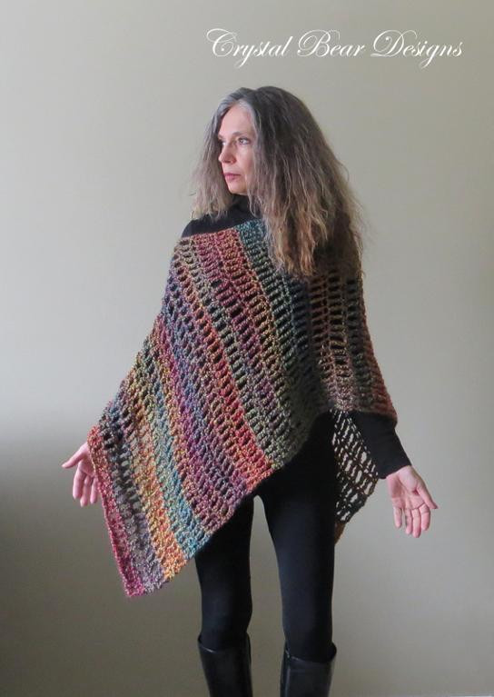 Crochet Poncho Patterns for Beginners Inspirational the Fiesta Crochet Poncho by Crystal Bear Designs Craftsy Of Amazing 43 Models Crochet Poncho Patterns for Beginners