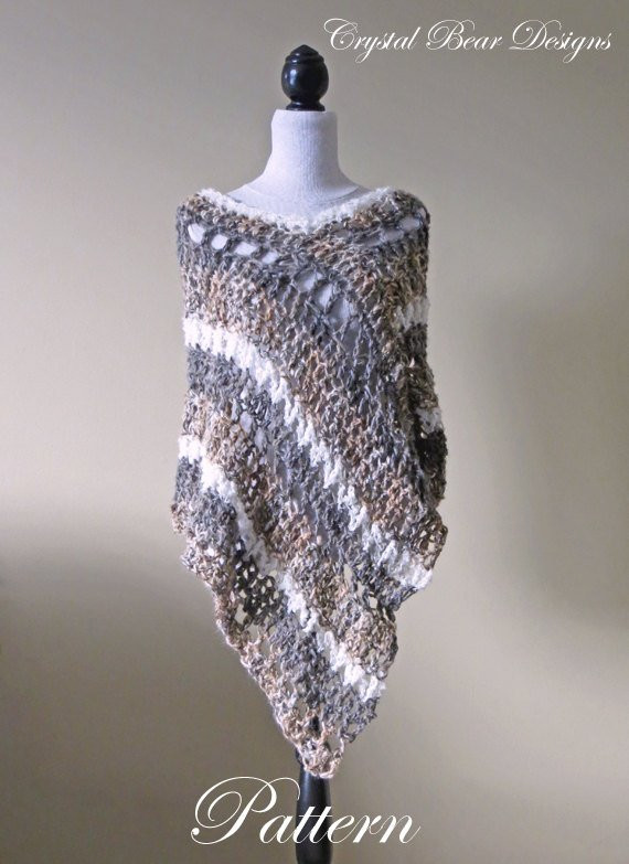 Crochet Poncho Patterns for Beginners Unique Crochet Poncho Pattern asymmetrical Poncho Striped Wrap Of Amazing 43 Models Crochet Poncho Patterns for Beginners