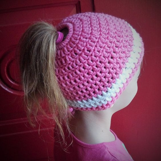 free crochet patterns for ponytail hats