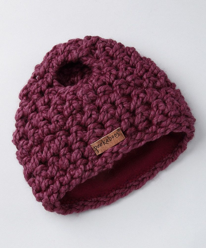 Classic Cable Ponytail Hat by Peekaboos Gad Flow