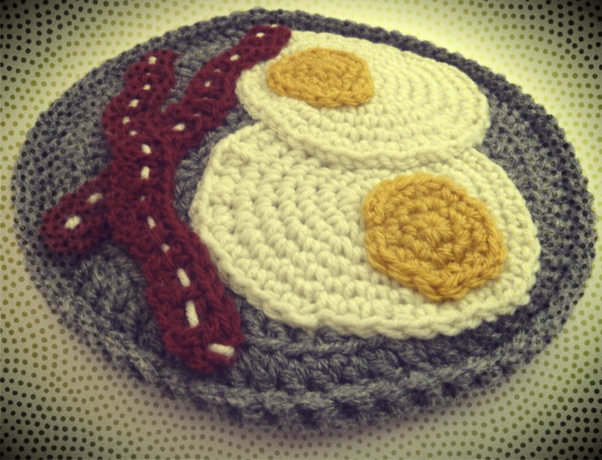 Crochet Potholder Pattern Awesome Free Eggs & Bacon Potholder Crochet Pattern Of Amazing 43 Pictures Crochet Potholder Pattern