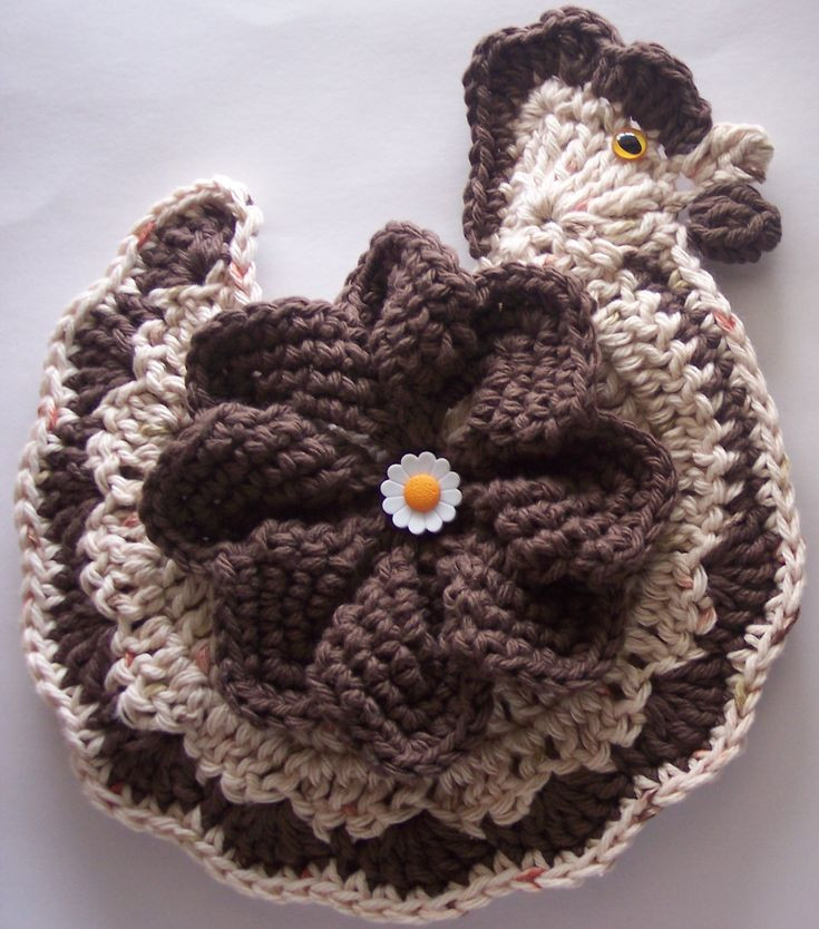 Crochet Potholder Pattern Beautiful Crochet Chicken Potholder Decoration by Linda Weddle Of Amazing 43 Pictures Crochet Potholder Pattern