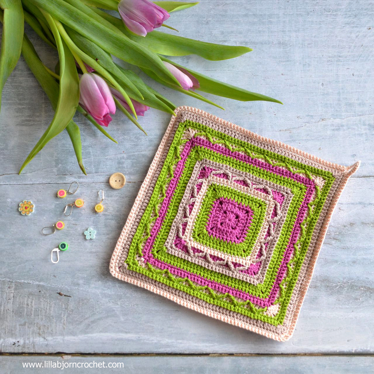 Crochet Potholders art in small FREE pattern