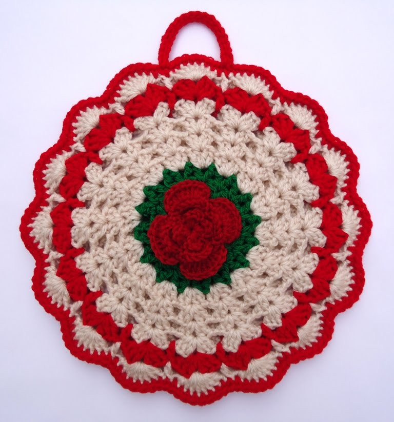 Crochet Potholder Pattern Elegant Stitch Of Love Crochet Potholder for Christmas Of Amazing 43 Pictures Crochet Potholder Pattern